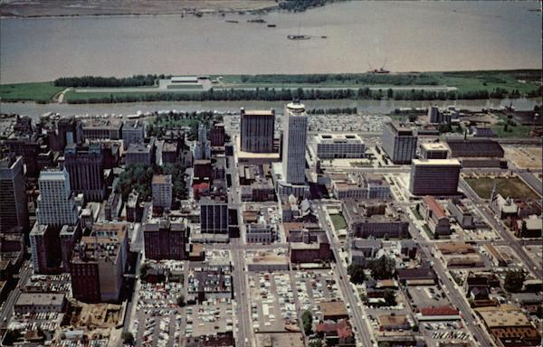 Aerial View of Downtown Memphis Tennessee