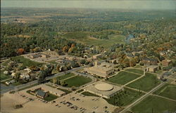 Aerial view of Goshen College