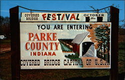 Parke County Covered Bridge Festival Postcard