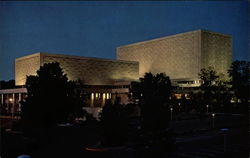 The Main Library, Night Scene, Indiana University