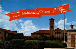 Greetings from Midwestern University Postcard