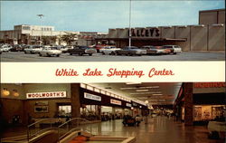White Lake Shopping Center Postcard