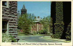 Crouse College and Maxwell School of Citizenship, Syracuse University Postcard