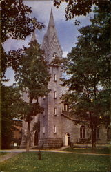 """The Spires"" -- Famous Landmark of Bowdoin College Postcard"