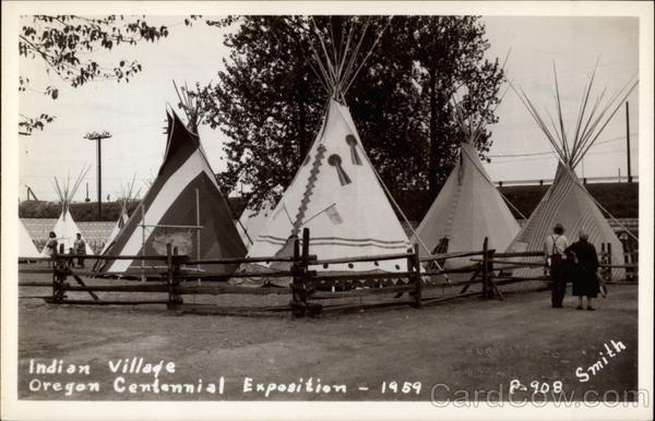 Indian Village, Oregon Centennial Exposition - 1959