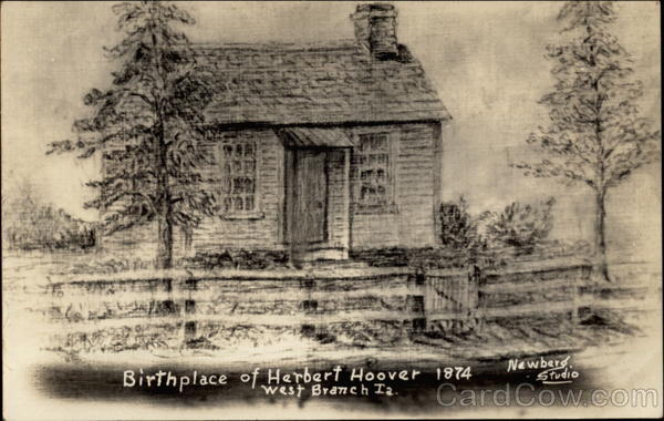 Birthplace of Herbert Hoover 1874 West Branch Iowa