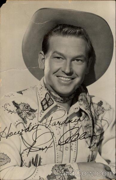 Signed Portrait Of Rex Allen Actors