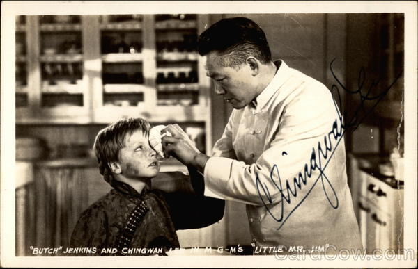 Butch Jenkins and Chingwan Lee in MGM's Little Mr. Jim