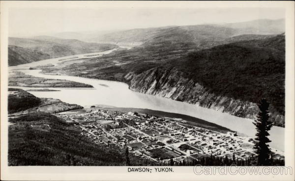 Panorama of Dawson, Yukon YT Canada