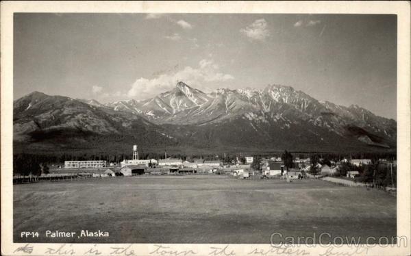View of Town Palmer Alaska