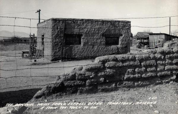 The Original Wells Fargo Express Office Vintage Postcard