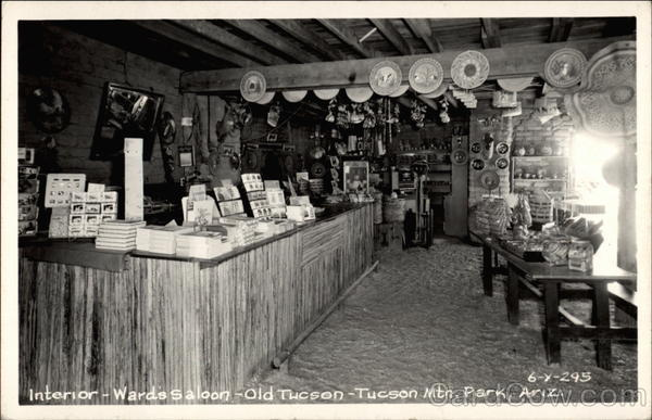 Interior of Ward's Saloon Old Tucson Studios Arizona