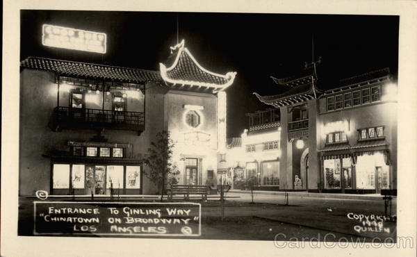 Entrance to Ginling Way - Chinatown on Broadway Los Angeles California