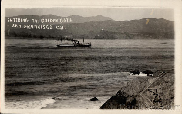 Entering the Golden Gate San Francisco California