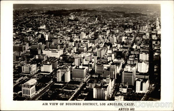 Air View of Business District Los Angeles California