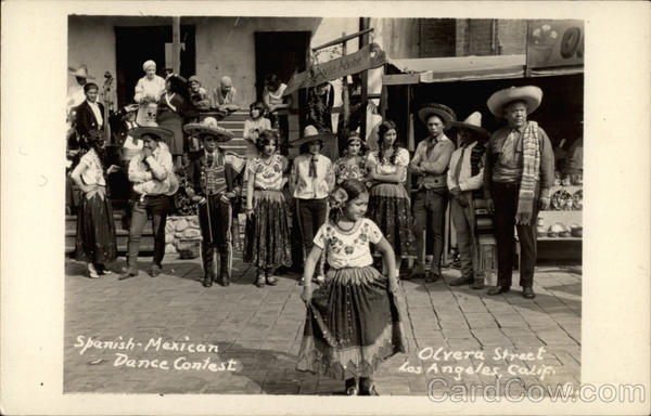 Spanish-Mexican Dance Contest, Olvera Street Los Angeles California