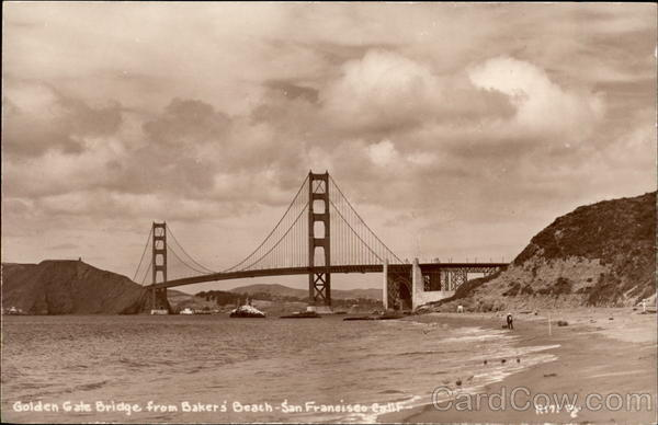 Golden Gate Bridge from Baker's Beach San Francisco California