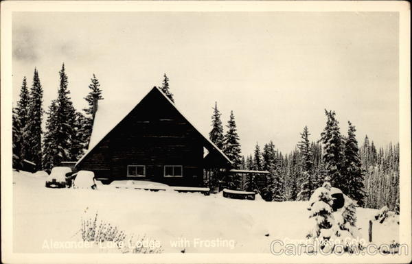 Alexander Lake Lodge with Frosting Grand Mesa Colorado