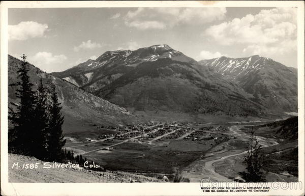 View from above the Town Silverton Colorado