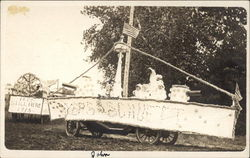 Boat float 1915 Old Settlers Parade