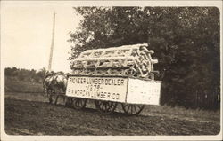 1915 Old Settlers Parade F.A. Morgan Lumber Co. float Postcard