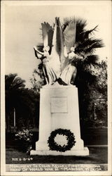 Monument To Colin Kelly First Amercian Hero Of World War II Postcard