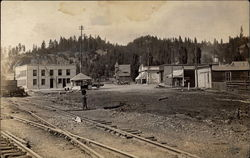 Train yard, early frontier town