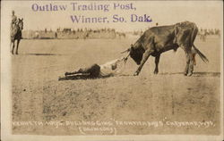 Kenneth Hays' bulldogging, Frontier Days