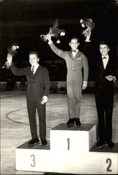 Ondrej Nepela on podium