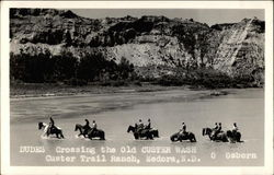 Dudes Crossing the Old Custer Wash