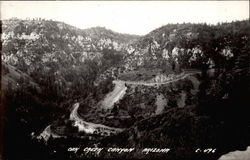 Road winding out of Oak Creek Canyon