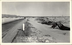 Old Plank Road and New Highway over Sand Dunes