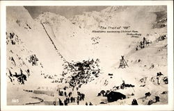 Gold Rush The Trail of '98; Klondikers ascending Chilcoot Pass Postcard