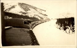 Troop train in Rocky Mountains