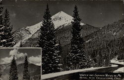 Winter and Summer Views of Mt. Bethel Postcard
