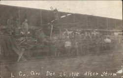 L Co. Qrs. Dec. 26, 1915 after storm
