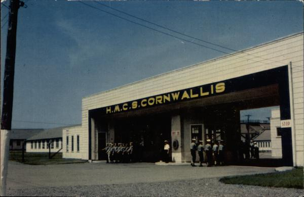 Main gate, Cornwallis Naval Bae Deep Brook Canada Nova Scotia
