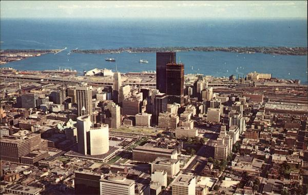 Aerial View of Downtown Toronto Canada Ontario