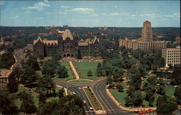 The Provincial Parliament Buildings,The East Block and Queens Park Toronto Canada