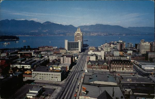 Aerial View of Vancouver, British Columbia Canada