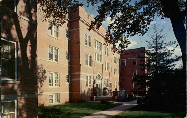 Residence Hall on Campus of Northwest Missouri State College Maryville