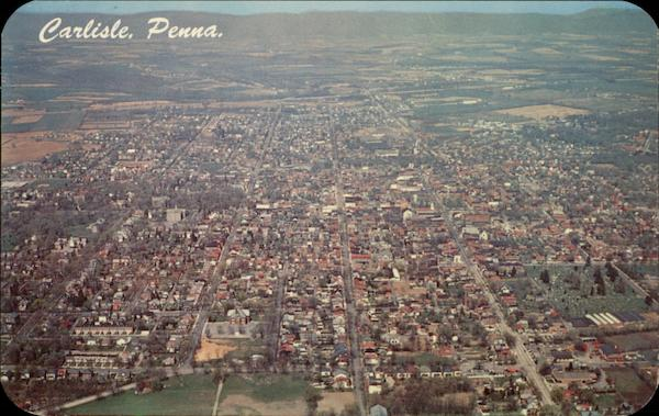 Aerial View of Carlisle, Penna Pennsylvania