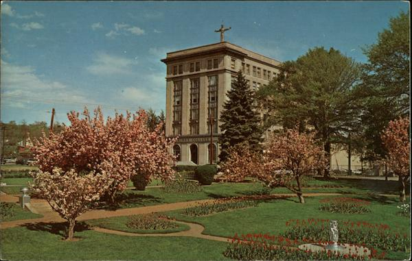 King's College at Cherry Blossom Time Wilkes-Barre Pennsylvania