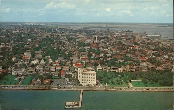 Aerial view of the Battery Charleston South Carolina