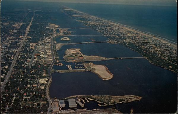Aerial view of Daytona Beach Florida