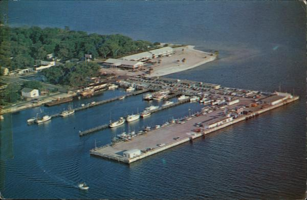 Aerial view of St. Andrew's Marina Panama City Florida