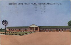Dixie View Motel Postcard