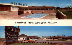 Greetings From Winslow, Arizona Motel Town House Postcard