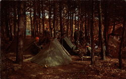 Typical bivouoc scene at Ft. Dix
