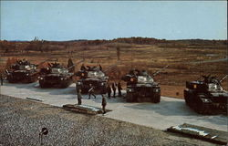 Army tanks lined up